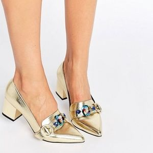 New ASOS 'Smokie' embellished heeled loafers